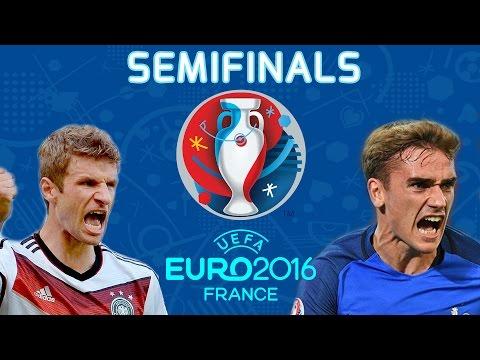 UEFA EURO 2016 Semi finals: France vs Germany (PES 16 Gameplay) Full Match HD