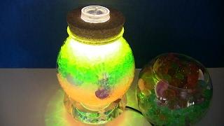 DIY Tự Làm Chai Thủy Tinh Cầu Vòng Hạt Nở Phát sáng Đẹp Lung Linh / rainbow ocean bottle (phần 2)