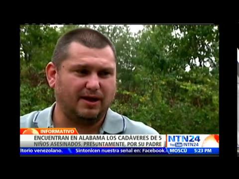 Autoridades de Alabama encontraron los cuerpos de cinco niños que fueron asesinados por su padre