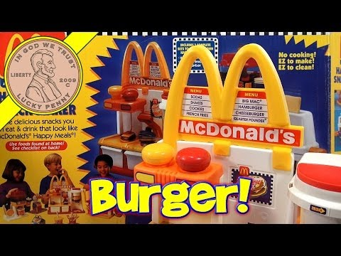 Make Mini Hamburgers!  McDonald's Happy Meal Magic Hamburger Snack Maker Set. 1993 Mattel Toys