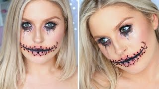 Easy Halloween Stitched Up Mouth ? Using Only Makeup!