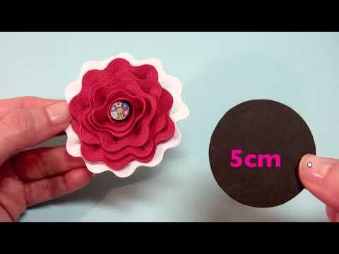 Tutorial: Flor de cinta ondulada.