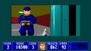 [MS-DOS] Wolfenstein 3D - Floor 2 (Episode II)