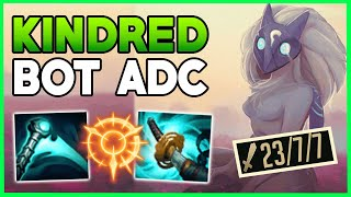 DON'T COME TO LANE OR YOU DIE! KINDRED ADC IS A BOT LANE GOD (1 E AND THEY DIE)! - League Of Legends