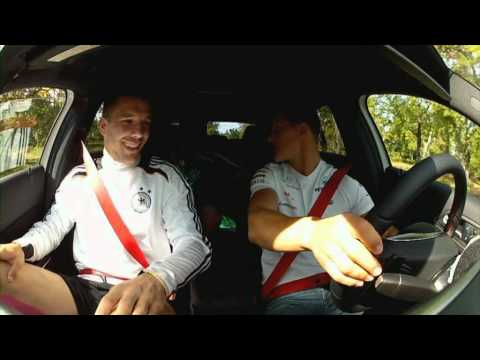 Michael, Nico and the German National football team drive the new A-Class