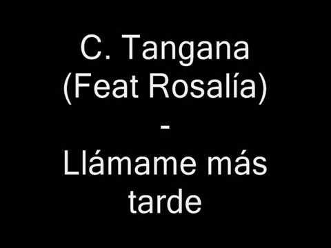 C. Tangana (Feat Rosalía) - Llámame más tarde con letra