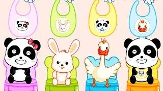 Baby Panda Kindergarten - Cute Little Panda Play And Learn | Babybus Kids Game Video