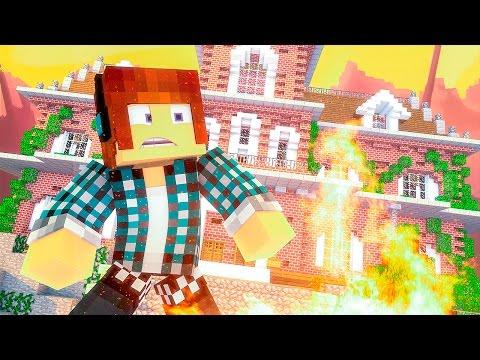 Minecraft : ESSA CASA PEGOU FOGO !!