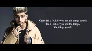 Download Lagu ZAYN - Fool for you (Lyrics) Gratis STAFABAND