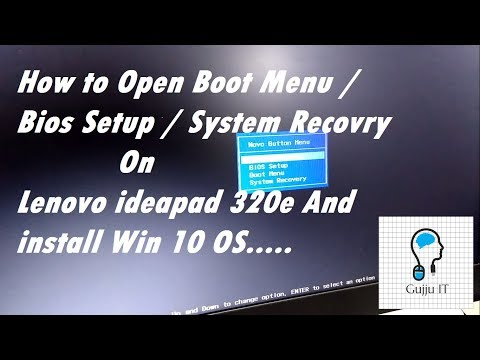 How to open Boot menu | Bios Setup on Lenovo ip 320e  And Install Win OS | Gujju IT