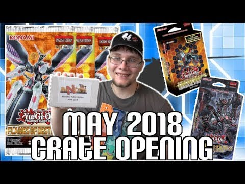 Yugioh BigNCrate May 2018 Unboxing | Flames of Destruction, Lair of Darkness, & Mystery Pack!