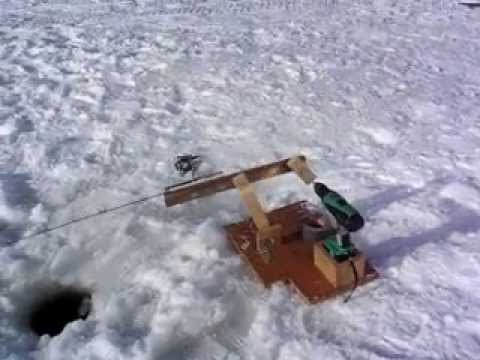 Automatic jigging rod for ice fishing youtube for Homemade ice fishing tip ups