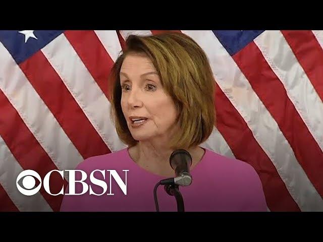 Nancy Pelosi: We hope to work in a bipartisan way