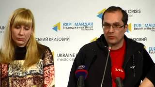Nataliya Voronkova. Ukraine Crisis Media Center, 29th of October 2014