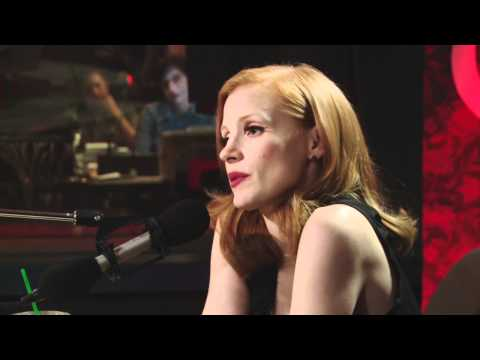 Hollywood ingenue Jessica Chastain in Studio Q