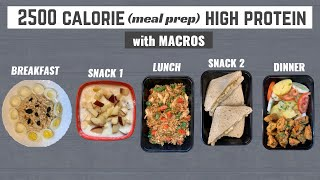 Full Day Meal Prep For MUSCLE BUILDING (2500 calories in 30mins)| High Protein Diet Plan!!