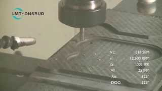 """68-405 1/4"""" PCD Ballnose Tool Cutting CFRP Video by LMT Onsrud"""