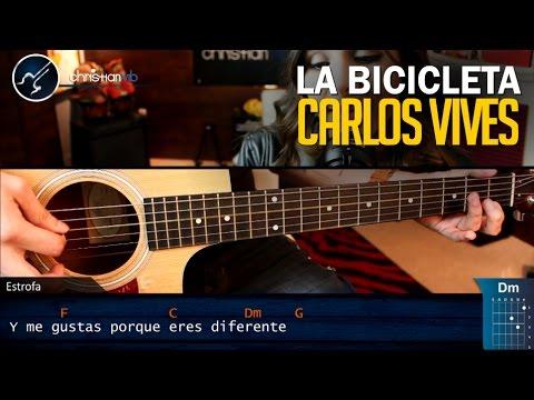Como Tocar La Bicicleta En Guitarra Carlos Vives Ft. Shakira   Tutorial COMPLETO