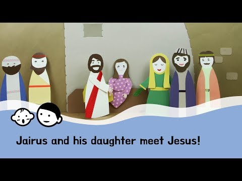 [ggoma-hyung] Jairus and his daughter meet Jesus! - paperart, biblestory, kidsbible, sundayschool