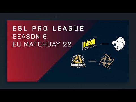 CS:GO: NaVi vs. North | GODSENT vs. NiP - Day 22 - ESL Pro League Season 6 - EU Main Stream