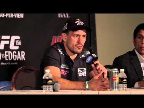 Demian Maia UFC 156 PostFight Press Conference