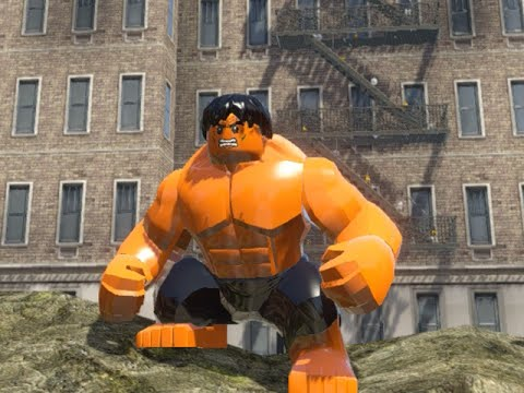 LEGO Marvel Superheroes - ORANGE HULK FREE ROAM GAMEPLAY (MOD SHOWCASE)