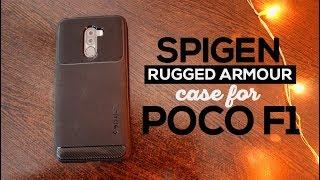 Spigen Rugged Armor Case for Xiaomi Poco F1 | Best Case for Pocophone F1