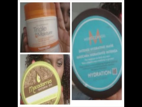 Macadamia Oil Deep Masque VS. Moroccan Oil Hydrating Mask Plus Neutrogena Mask