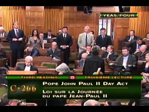 266 An Act To Establish Pope John Paul Ii Daypope John Paul Ii Day