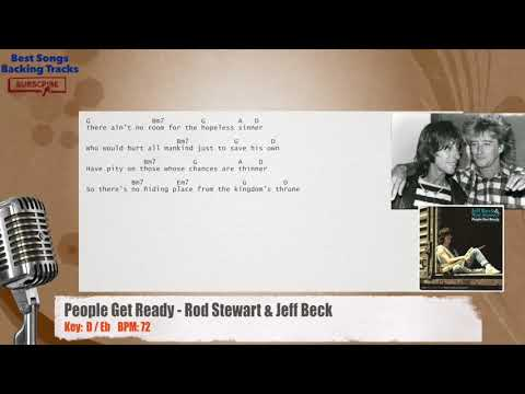 Jeff Beck And Rod Stewart People Get Ready With Lyrics Music