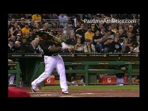 MARLON BYRD Home Run Baseball Swing Slow Motion Hitting Mechanics Pittsburgh Pirates MLB