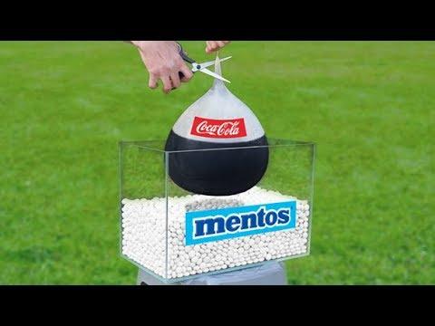 Experiment Coca Cola Balloon and Mentos!