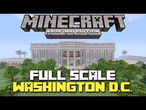 Minecraft Xbox 360: EPIC Full-Scale Washington D.C. Showcase + World Download!