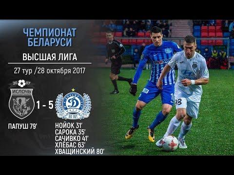 Ислочь 1:5 Динамо-Минск. Видеообзор матча