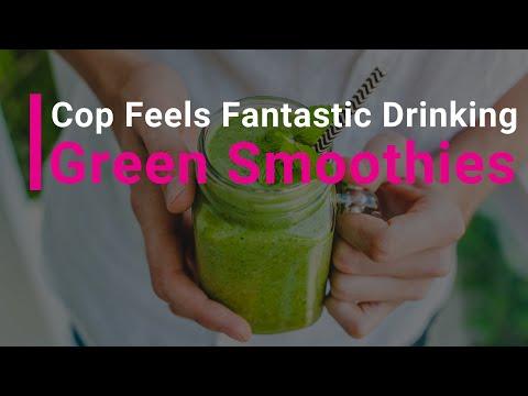 Cop Beats Heart Disease Drinking Green Smoothies!