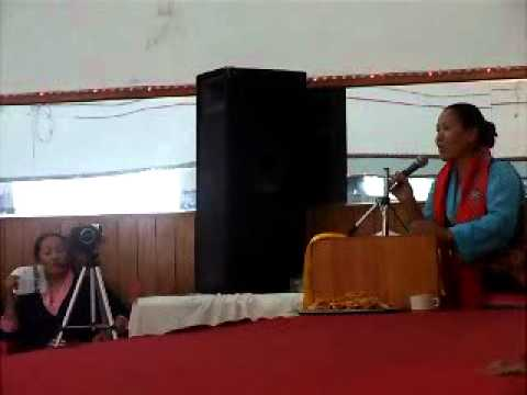charperson Mrs Nimi Sherpa during a Nepal Sherpa Women Association Program.