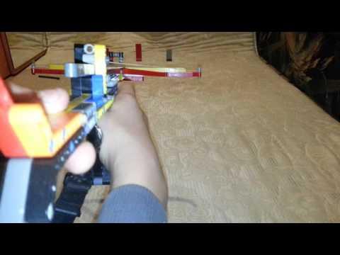 Как из лего сделать стреляющий арбалет из
