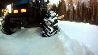 Ford 7840 of snow! Tractor 4x4