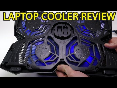4 Fan Laptop Cooler Review Fits both 15