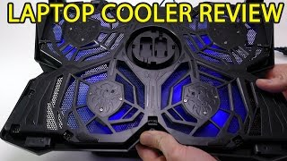 """4 Fan Laptop Cooler Review Fits both 15"""" and 17"""""""
