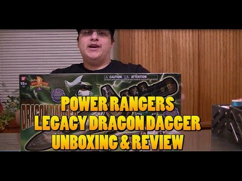 POWER RANGERS LEGACY DRAGON DAGGER UNBOXING/REVIEW