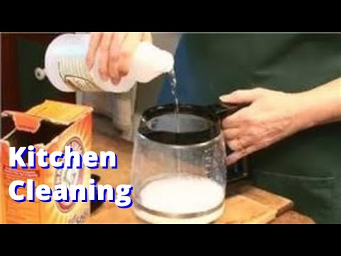 Coffee Pot Stains Cleaning : Kitchen Cleaning : How to Use Vinegar to Clean Coffee Pots - YouTube