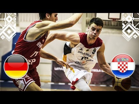Germany v Croatia - Full Game - Round of 16 - FIBA U18 European Championship 2018