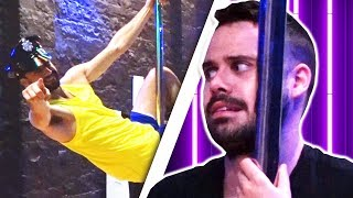 Irish People Try Pole Dancing For The First Time