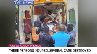 Three persons injured, several cars destroyed after gas explodes in Lagos