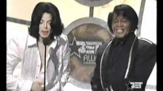 Michael Jackson was crying next to his idol!