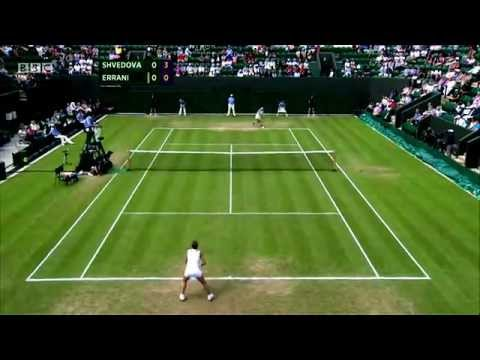 Yaroslava Shvedova's Golden set vs Sara Errani - Wimbledon 2012 (All 24 Points)