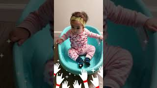 Being Creative! Safety First! Baby Bath can be used for kids that can not sit properly! Watch them!
