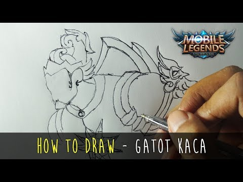 How to Draw a Cartoon - Mobile Legends Char Fun Art Gatot Kaca (Tutorial Step by Step)