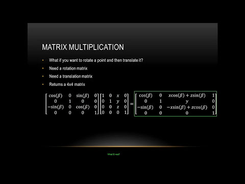 Tutorial 10 - Introduction to Matrix Math in OpenGL